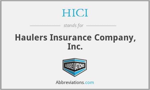 HICI - Haulers Insurance Company, Inc.