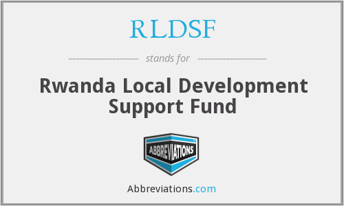 RLDSF - Rwanda Local Development Support Fund