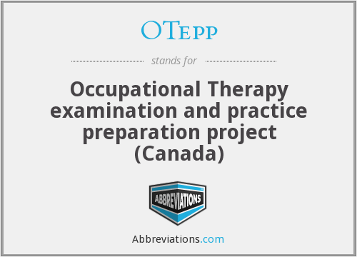 OTepp - Occupational Therapy examination and practice preparation project (Canada)