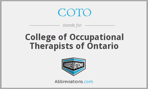 COTO - College of Occupational Therapists of Ontario