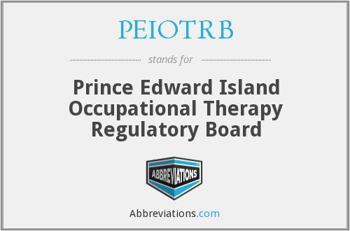 PEIOTRB - Prince Edward Island Occupational Therapy Regulatory Board