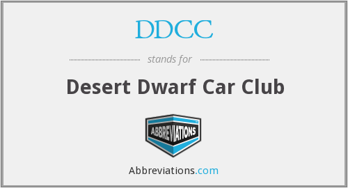 DDCC - Desert Dwarf Car Club