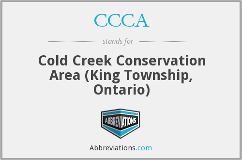 CCCA - Cold Creek Conservation Area (King Township, Ontario)