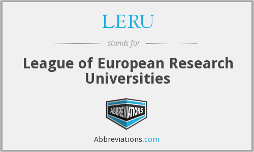 What does LERU stand for?