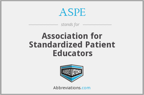 ASPE - Association for Standardized Patient Educators