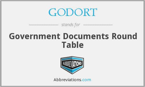GODORT - Government Documents Round Table