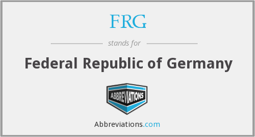 FRG - Federal Republic of Germany