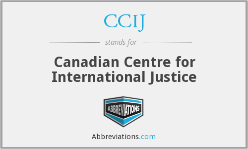 CCIJ - Canadian Centre for International Justice