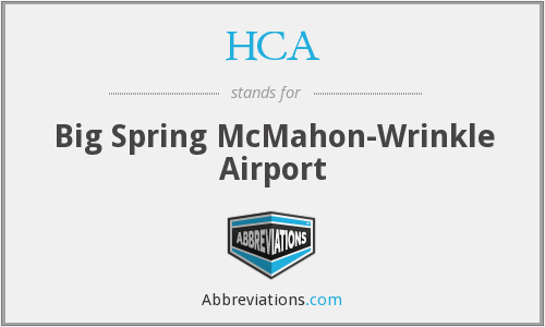 HCA - Big Spring McMahon-Wrinkle Airport