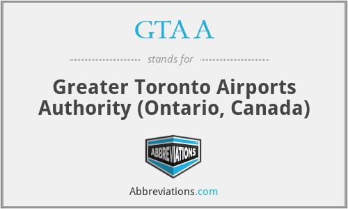 GTAA - Greater Toronto Airports Authority (Ontario, Canada)
