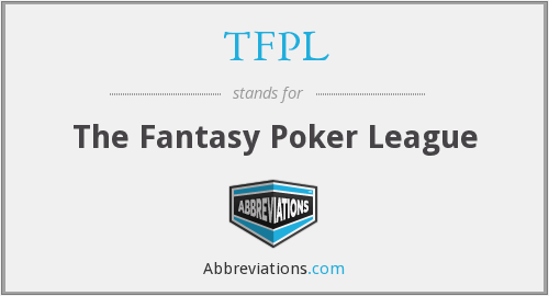 TFPL - The Fantasy Poker League