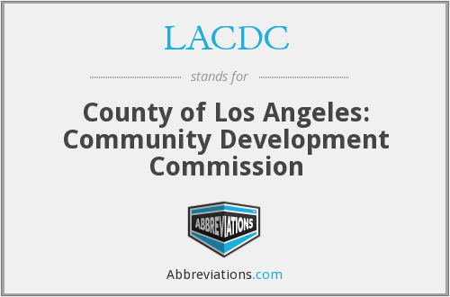 What Is The Abbreviation For County Of Los Angeles Community Development Commission