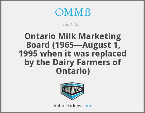 What does OMMB stand for?