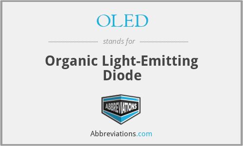 OLED - organic light-emitting diode