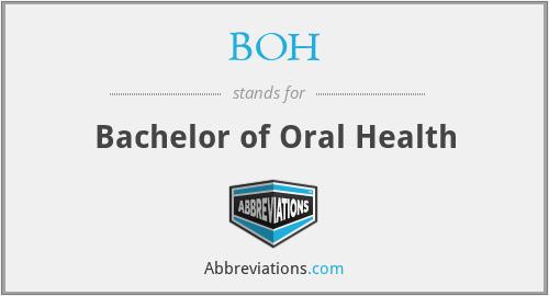BOH - Bachelor of Oral Health