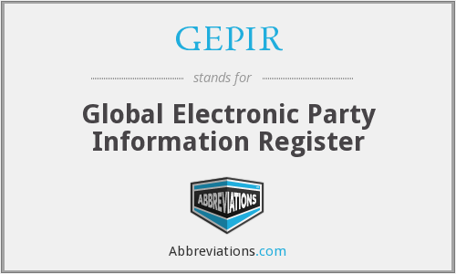 GEPIR - Global Electronic Party Information Register