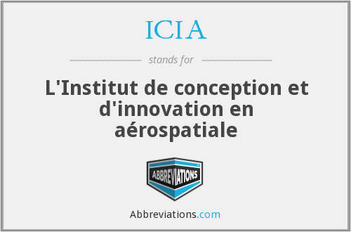 ICIA - L'Institut de conception et d'innovation en aérospatiale