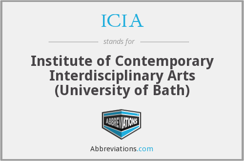 ICIA - Institute of Contemporary Interdisciplinary Arts (University of Bath)