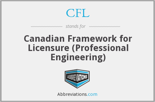 CFL - Canadian Framework for Licensure (Professional Engineering)