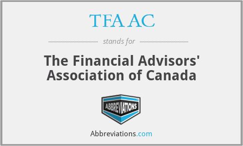 TFAAC - The Financial Advisors' Association of Canada