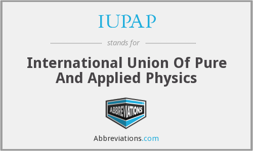 What does IUPAP stand for?