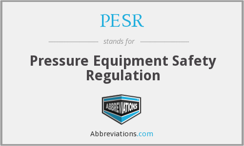 What does PESR stand for?