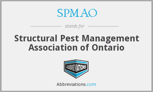SPMAO - Structural Pest Management Association of Ontario