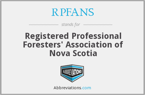 RPFANS - Registered Professional Foresters' Association of Nova Scotia
