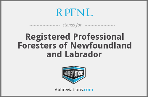 RPFNL - Registered Professional Foresters of Newfoundland and Labrador