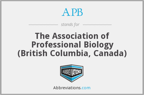 APB - The Association of Professional Biology (British Columbia, Canada)