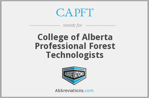 CAPFT - College of Alberta Professional Forest Technologists
