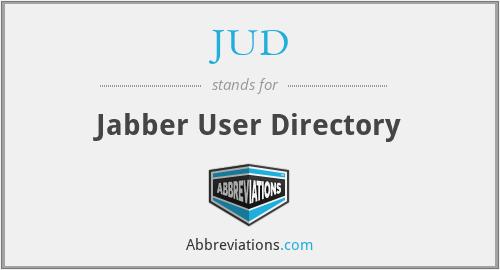 JUD - Jabber User Directory