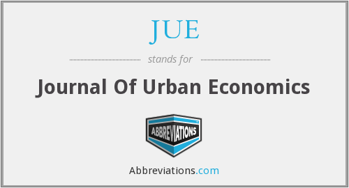 JUE - Journal Of Urban Economics