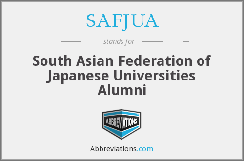 SAFJUA - South Asian Federation of Japanese Universities Alumni