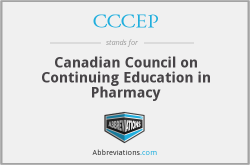 CCCEP - Canadian Council on Continuing Education in Pharmacy