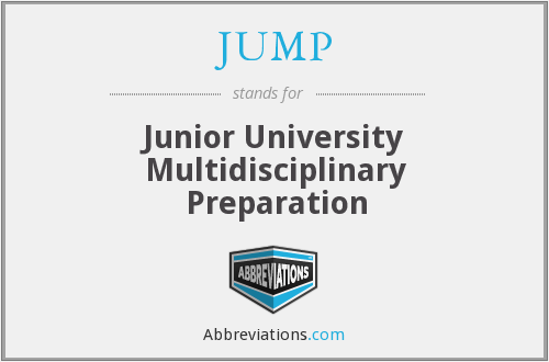 JUMP - Junior University Multidisciplinary Preparation