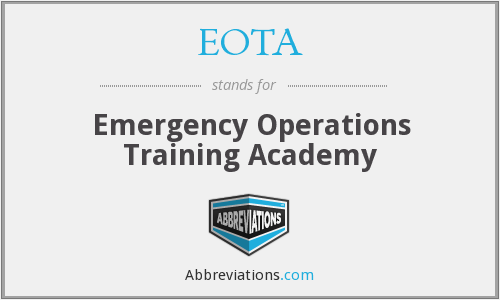 EOTA - Emergency Operations Training Academy