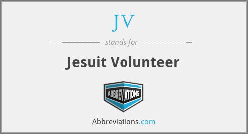 JV - Jesuit Volunteer