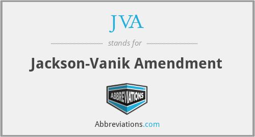 JVA - Jackson-Vanik Amendment
