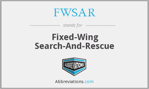 FWSAR - Fixed-Wing Search-And-Rescue