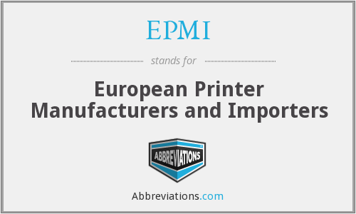 EPMI - European Printer Manufacturers and Importers