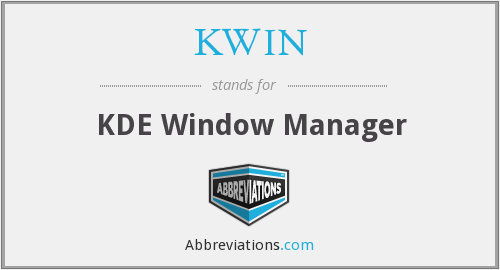 KWIN - KDE Window Manager