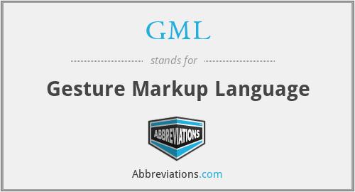 GML - Gesture Markup Language