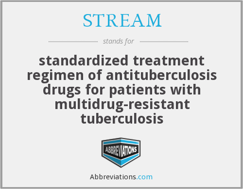 STREAM - standardized treatment regimen of antituberculosis drugs for patients with multidrug-resistant tuberculosis