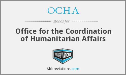 OCHA - Office for the Coordination of Humanitarian Affairs