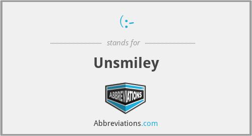 (:- - Unsmiley