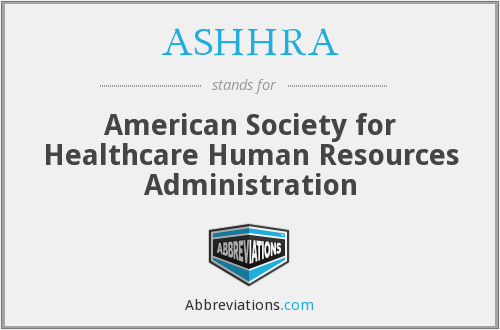 What does ASHHRA stand for?