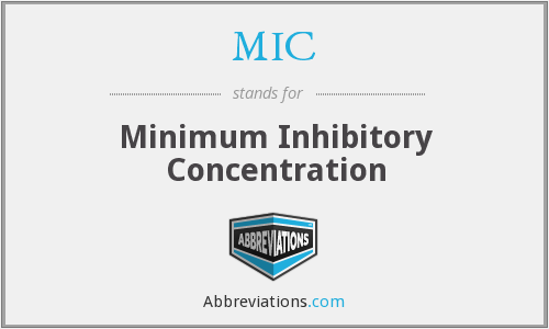 MIC - minimum inhibitory concentration
