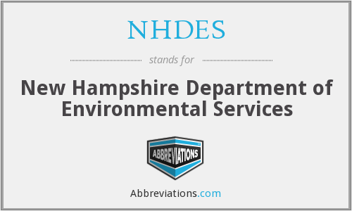 What does NHDES stand for?