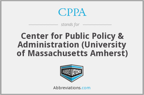 CPPA - Center for Public Policy & Administration (University of Massachusetts Amherst)